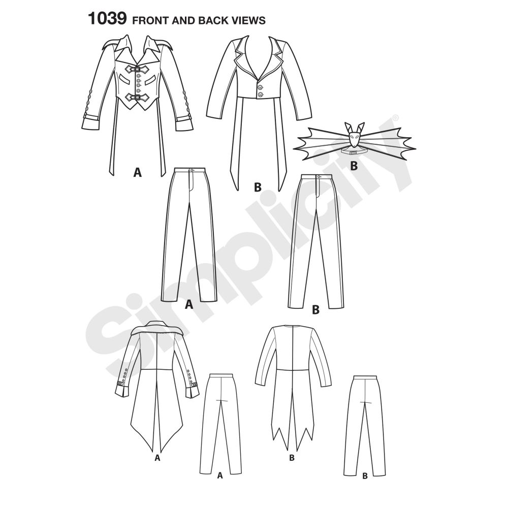 simplicity-costumes-pattern-1039-front-back-view