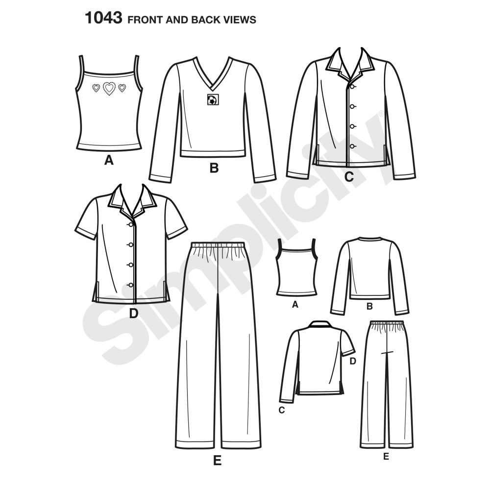 simplicity-girls-pattern-1043-front-back-view