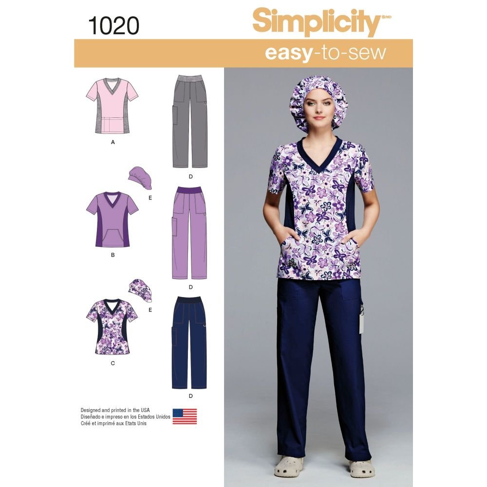 S1020 Simplicity sewing pattern BB (20W - 28W)
