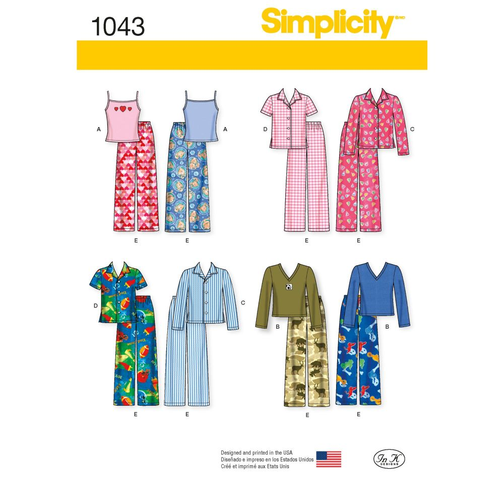 S1043 Simplicity sewing pattern K5 (7 8 10 12 14)