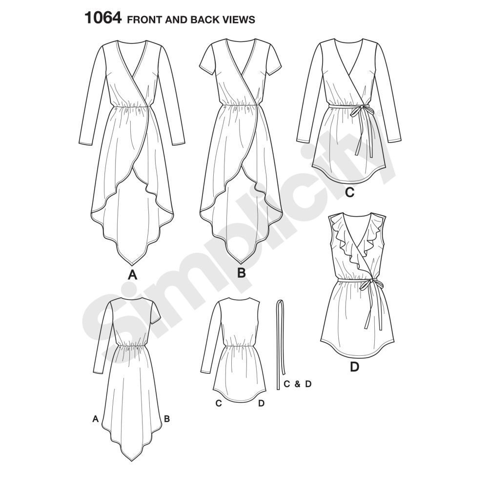 simplicity-tops-vests-pattern-1064-front-back-view