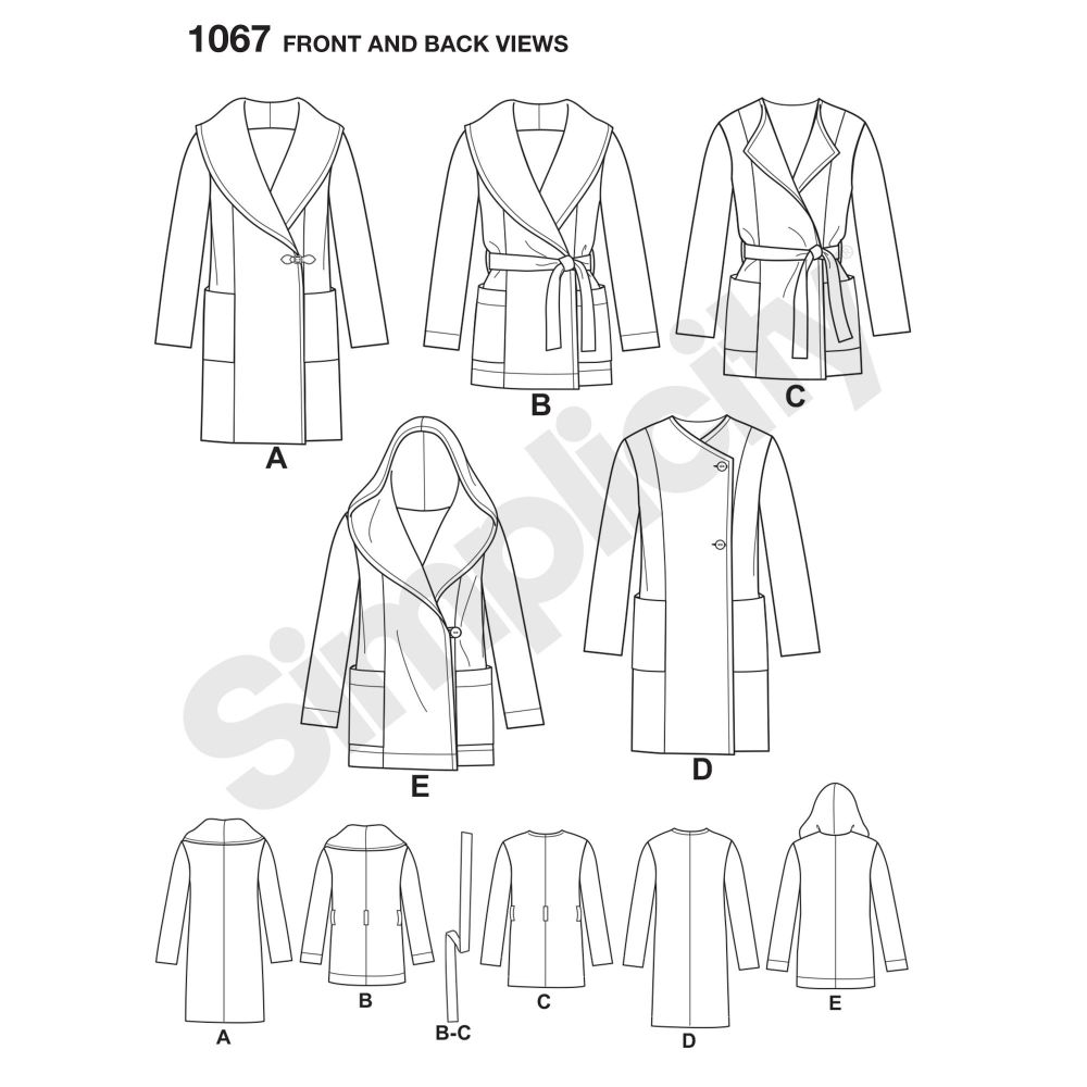 simplicity-jackets-coats-pattern-1067-front-back-view