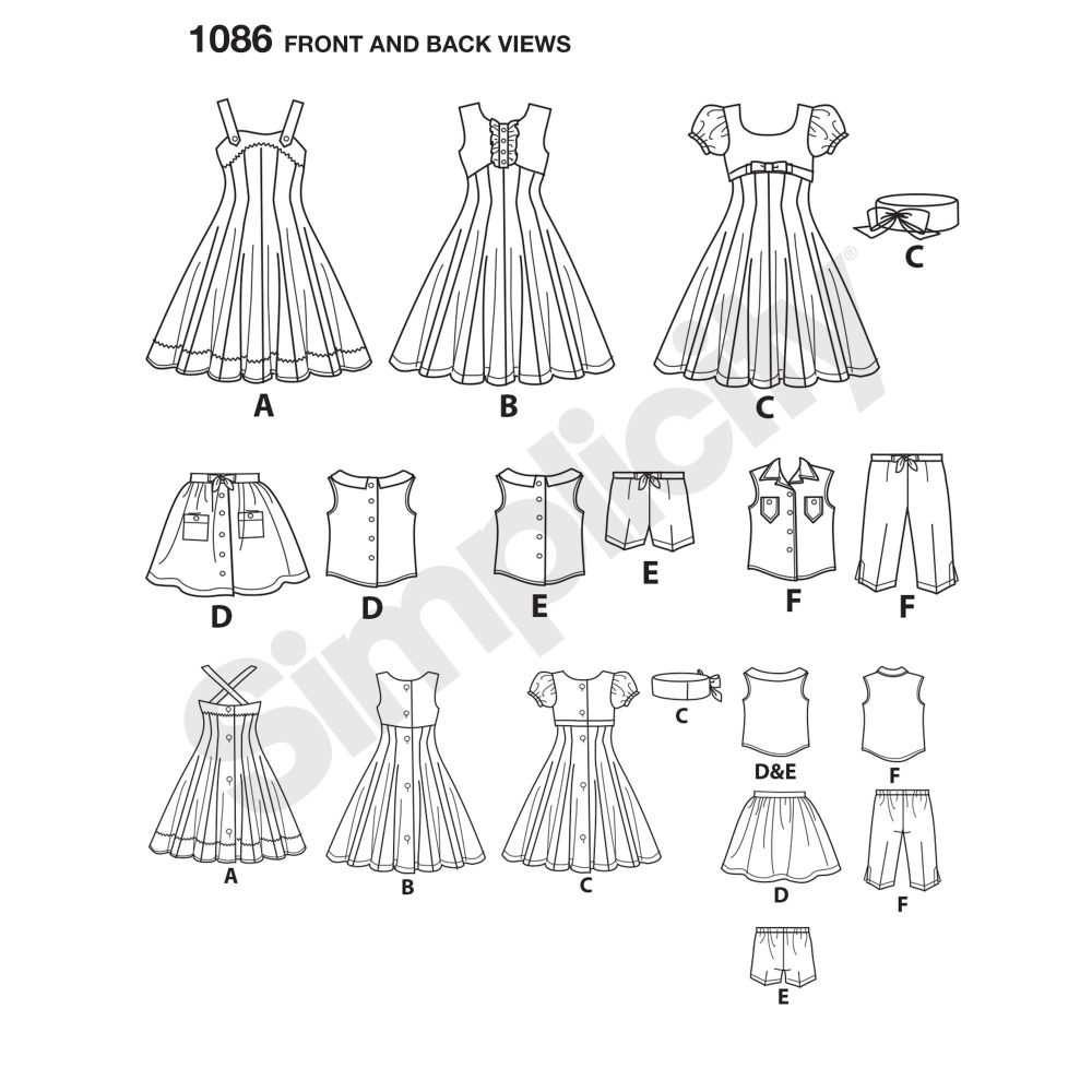 simplicity-doll-clothing-pattern-1086-front-back-view