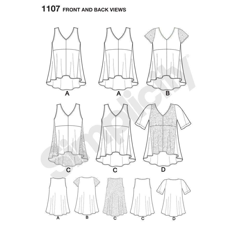 simplicity-tops-vests-pattern-1107-front-back-view