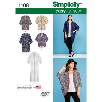 S1108 Simplicity sewing pattern A (XXS XS S M L XL XXL)
