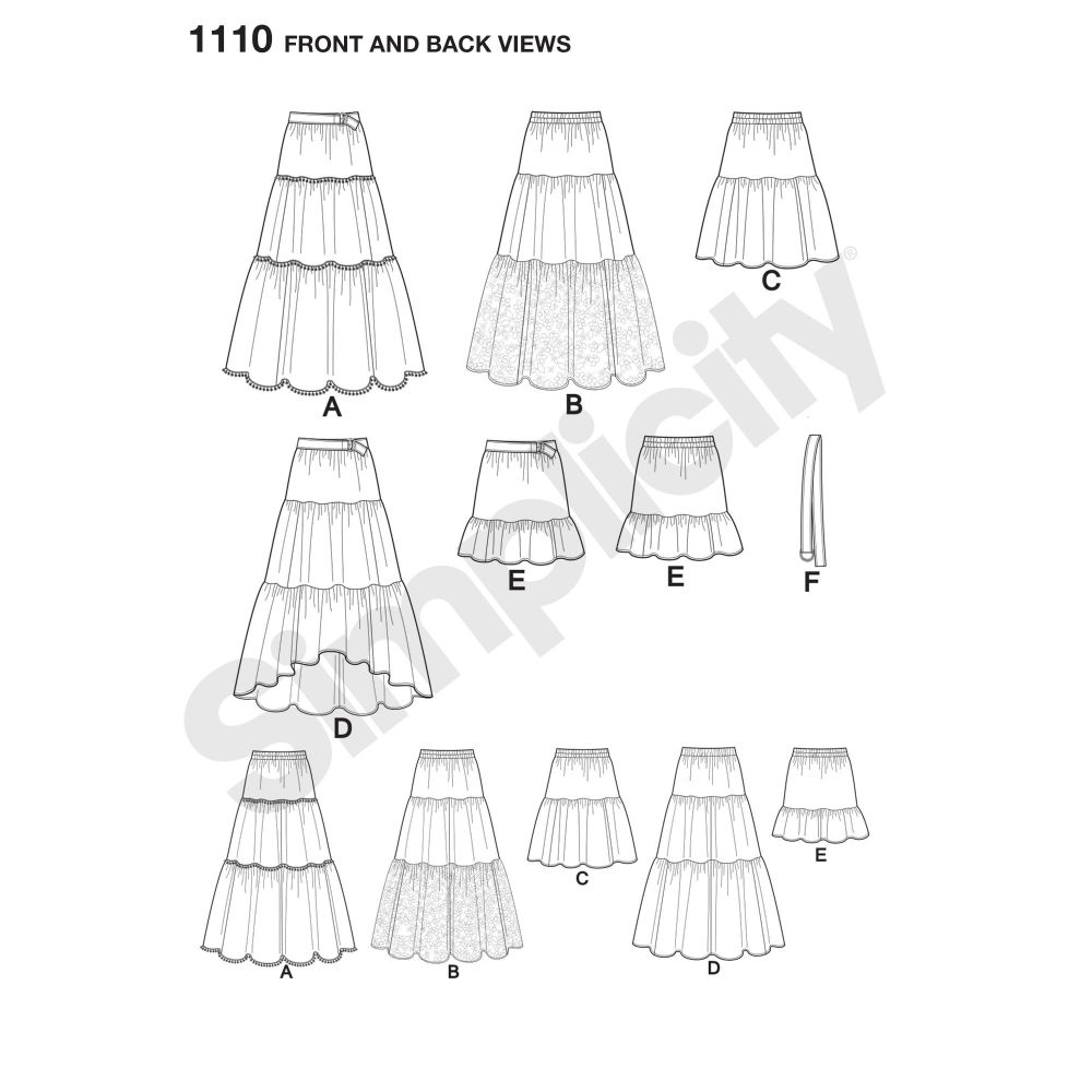 simplicity-skirts-pants-pattern-1110-front-back-view