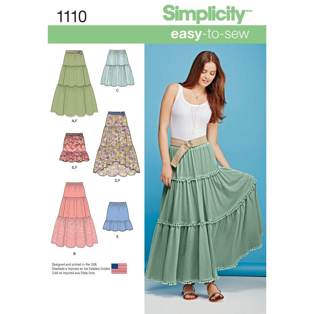 S1110 Simplicity sewing pattern A (XXS XS S M L XL XXL)