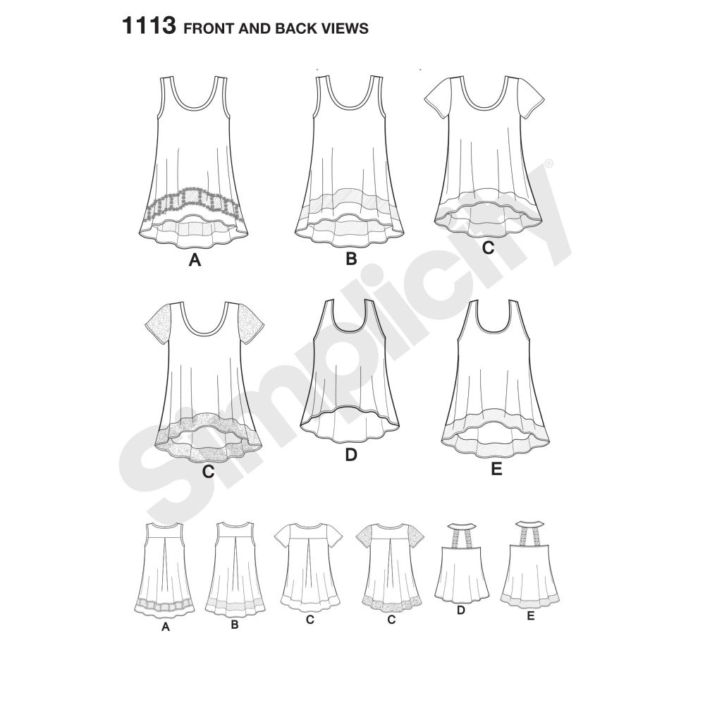simplicity-tops-vests-pattern-1113-front-back-view