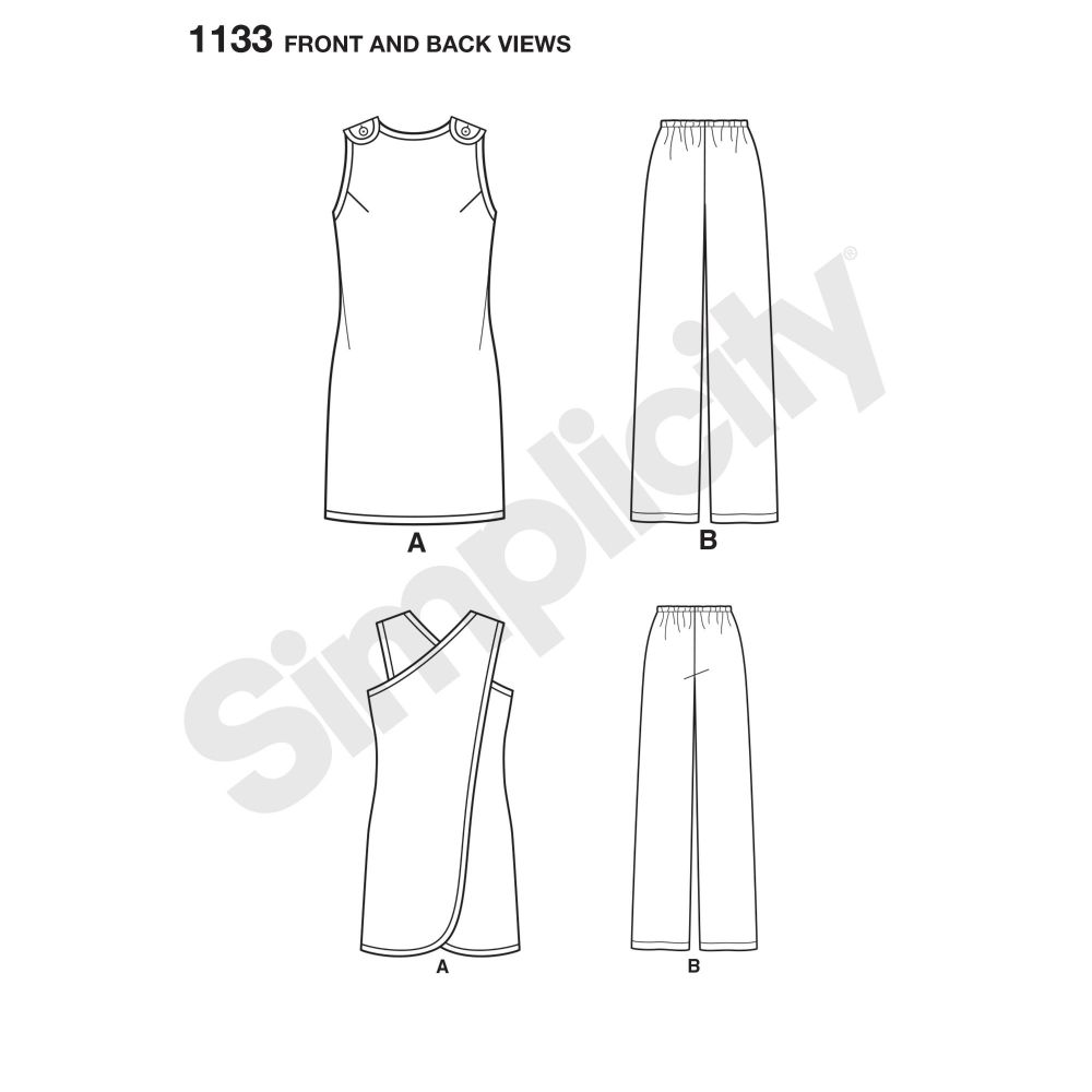 simplicity-aprons-pattern-1133-front-back-view