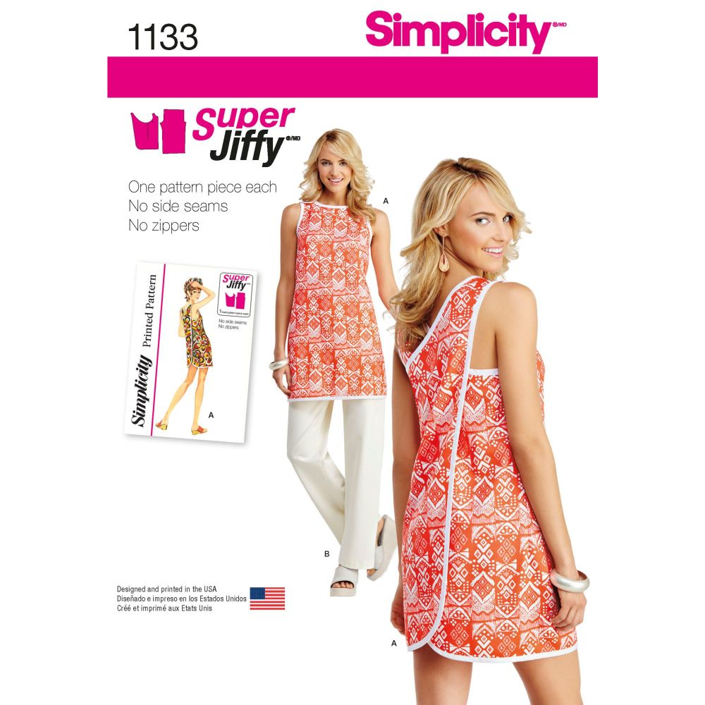 S1133 Simplicity sewing pattern A (6 8 10 12 14 16 18)