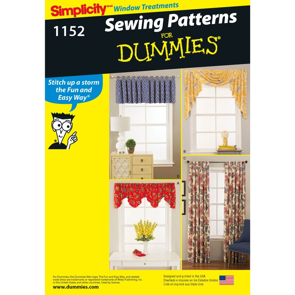 S1152 Simplicity sewing pattern OS (One size)