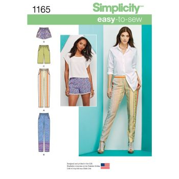 1165 Simplicity sewing pattern H5 (6 8 10 12 14)