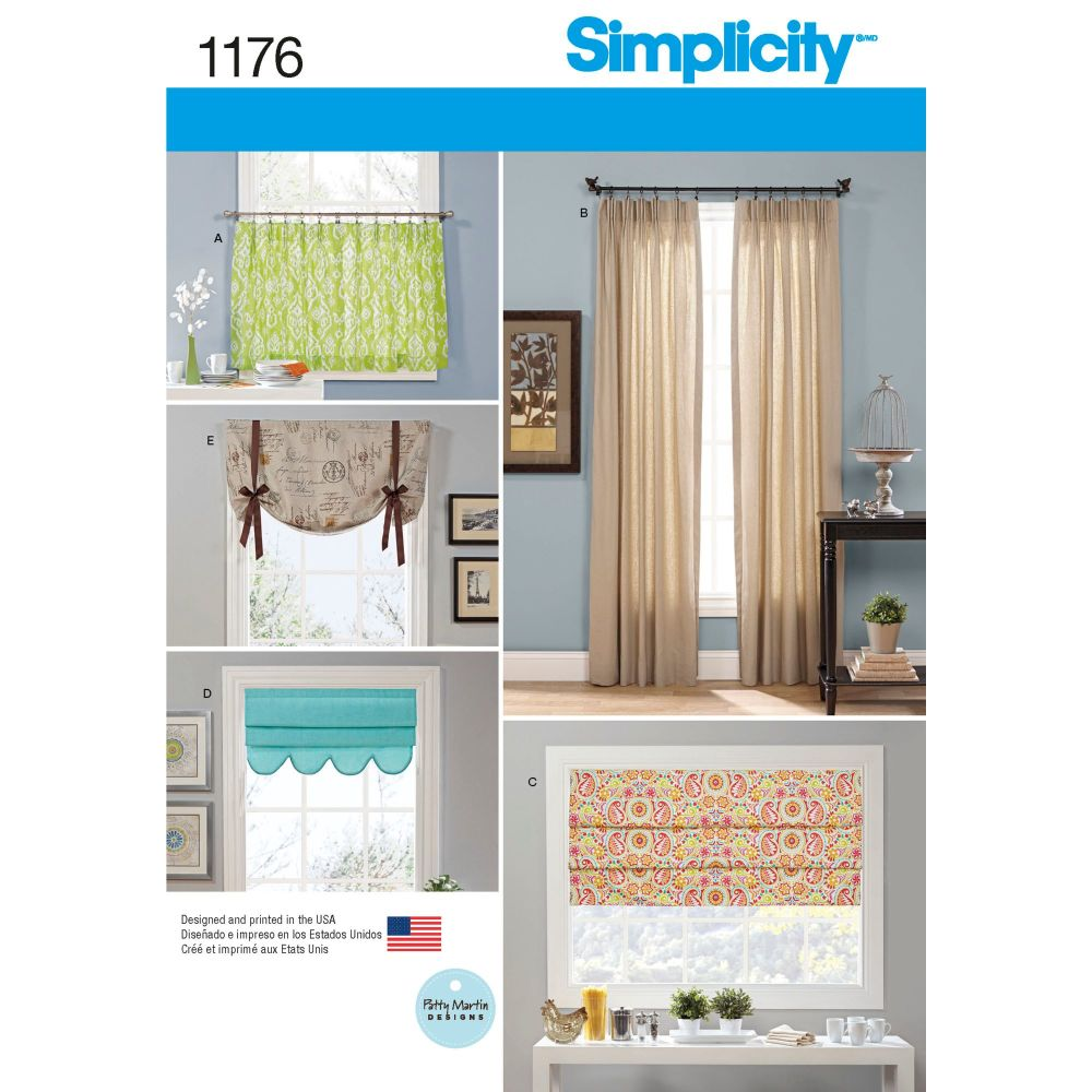 S1176 Simplicity sewing pattern OS (One size)