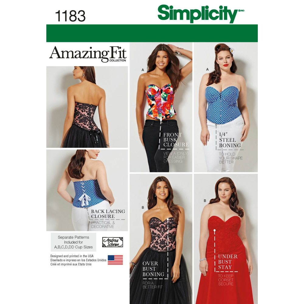S1183 Simplicity sewing pattern BB (20W - 28W)