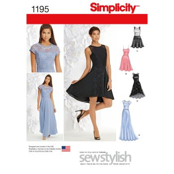 1195 Simplicity sewing pattern D5 (4 6 8 10 12)