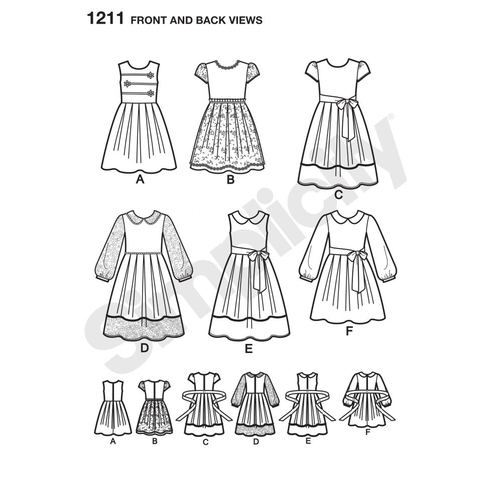 simplicity-girls-pattern-1211-front-back-view