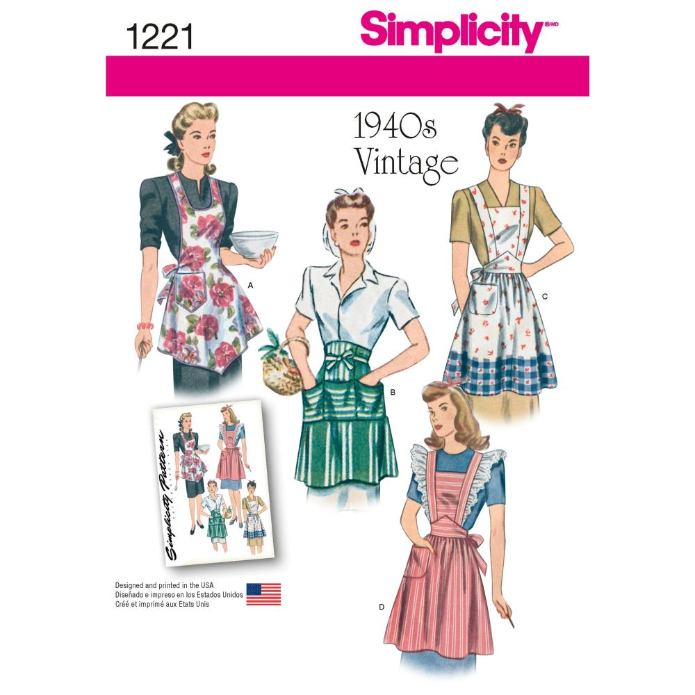 S1221 Simplicity sewing pattern A (S M L)