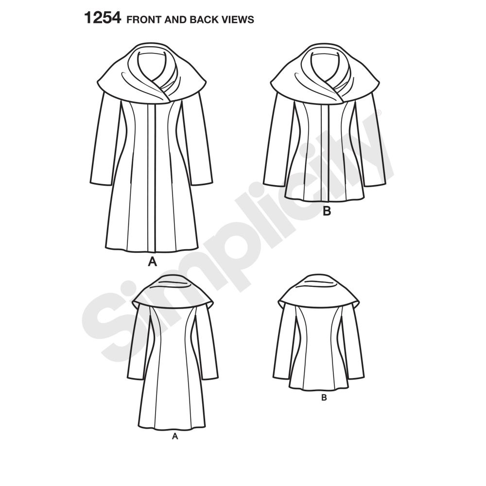 simplicity-jackets-coats-pattern-1254-front-back-view
