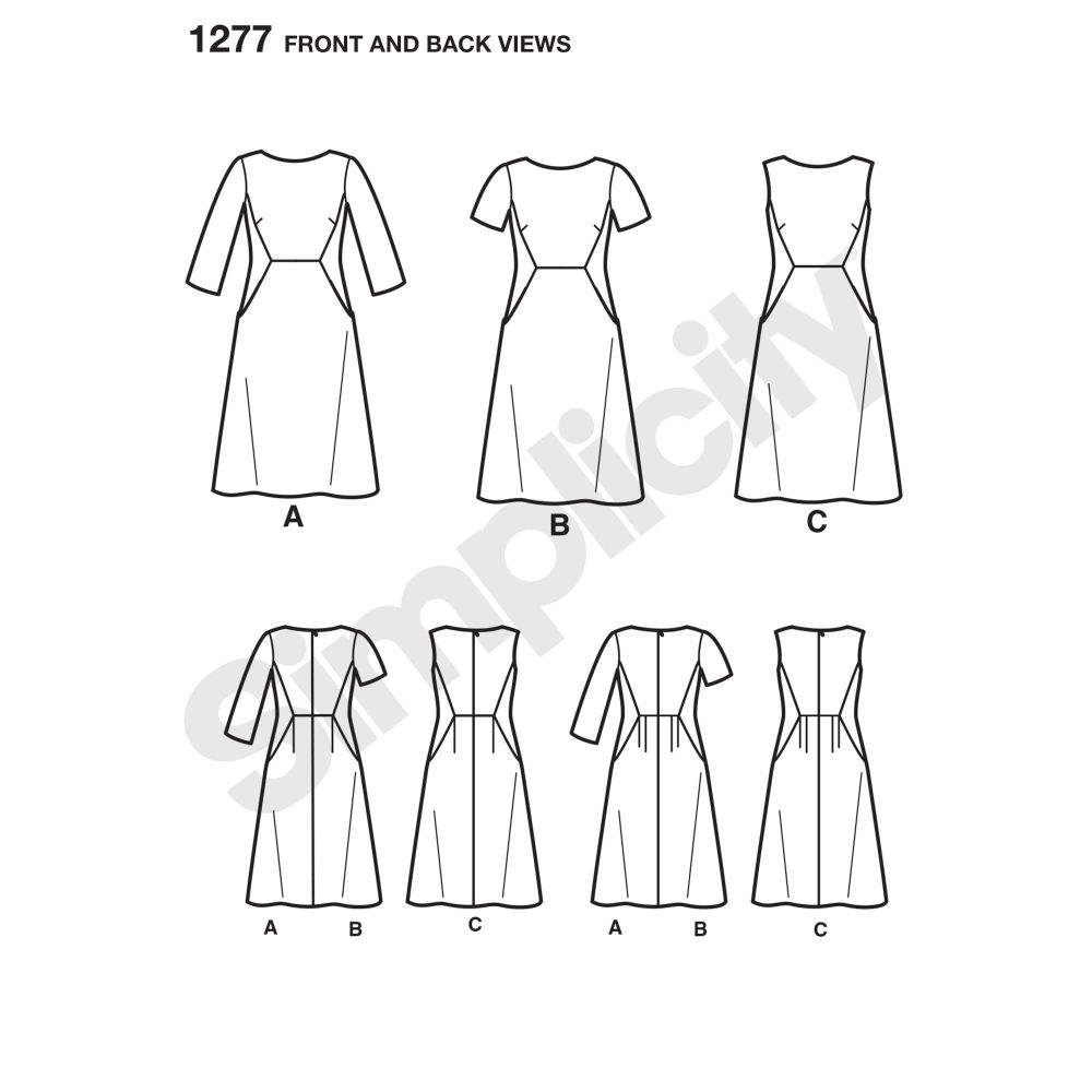 simplicity-dresses-pattern-1277-front-back-view