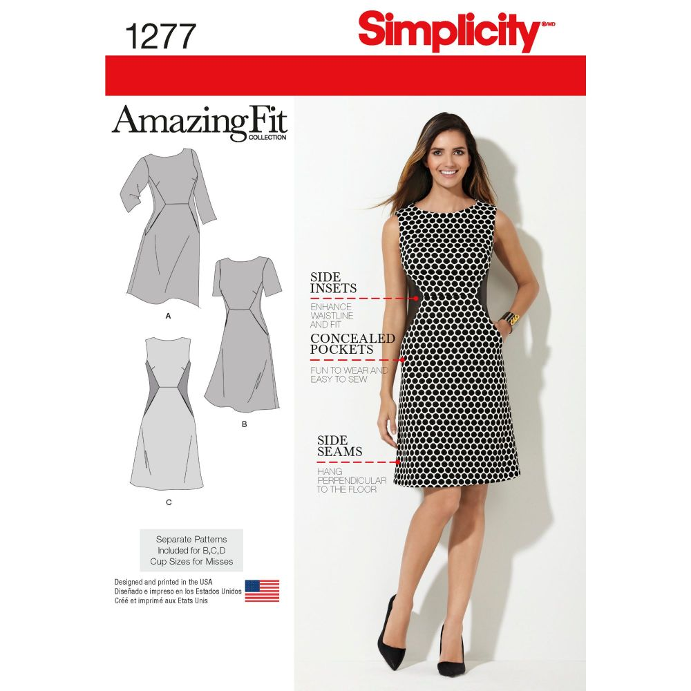S1277 Simplicity sewing pattern AA (10 12 14 16 18)