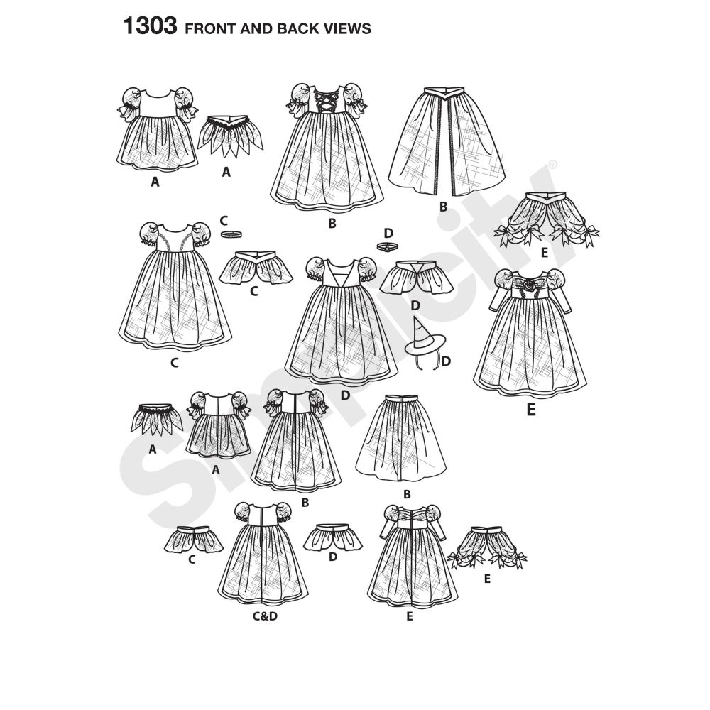 simplicity-costumes-pattern-1303-front-back-view
