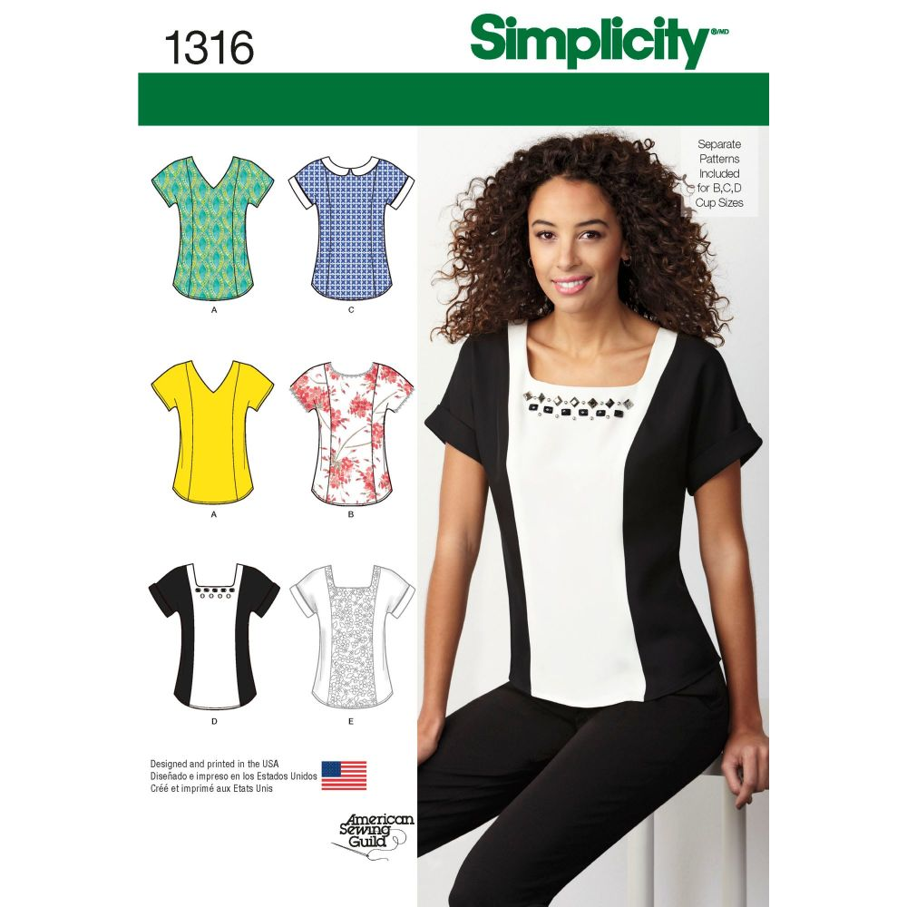 S1316 Simplicity sewing pattern R5 (14-16-18-20-22)