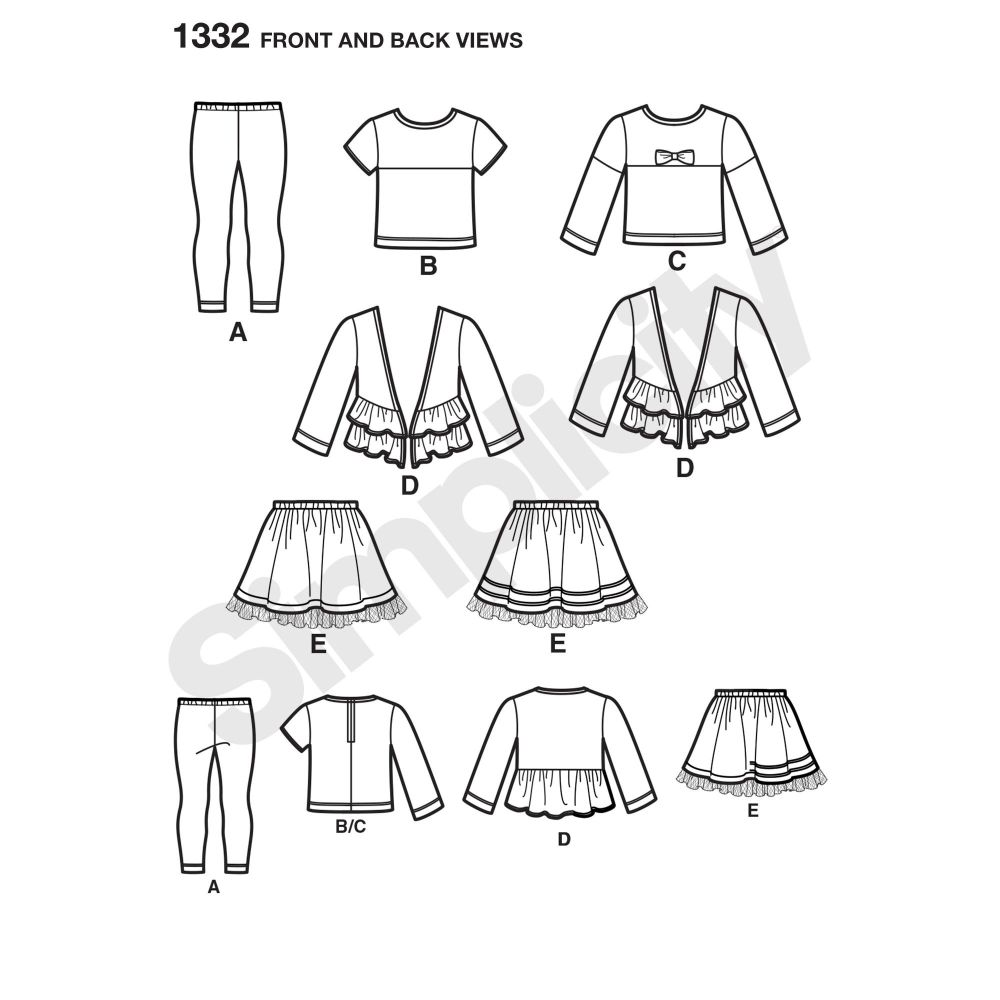 simplicity-girls-pattern-1332-front-back-view
