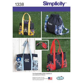 S1338 Simplicity sewing pattern OS (ONE SIZE)