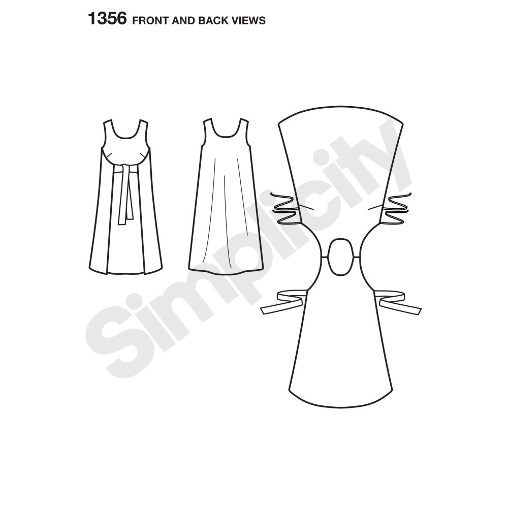 simplicity-dresses-pattern-1356-front-back-view