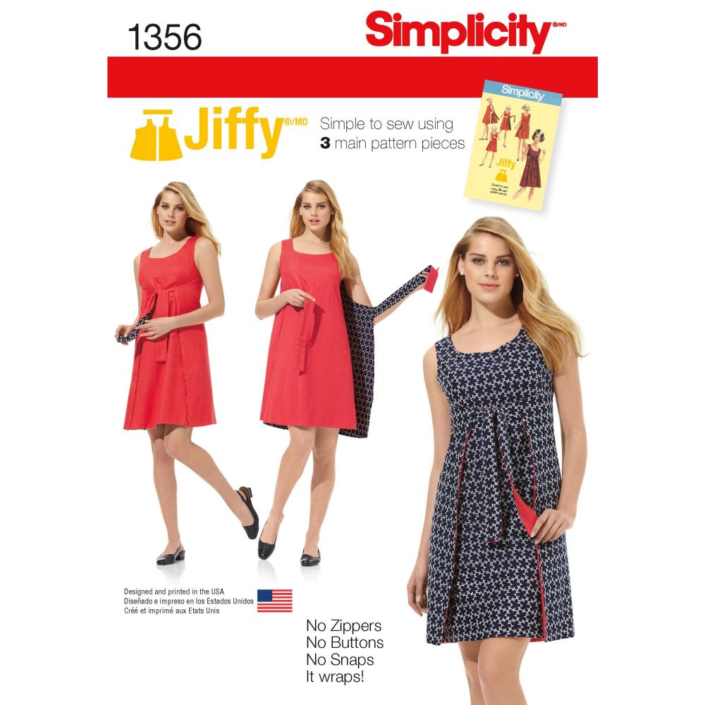 S1356 Simplicity sewing pattern H5 (6-8-10-12-14)