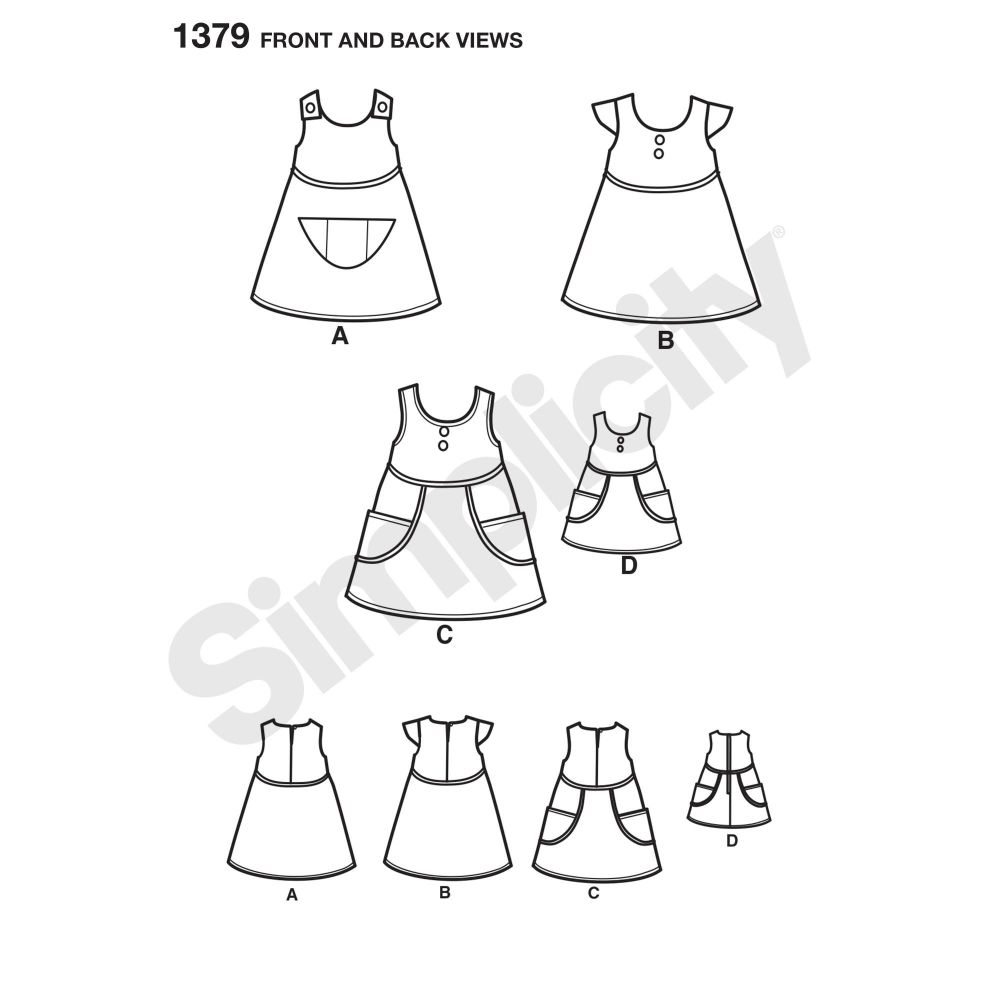 simplicity-girls-pattern-1379-front-back-view