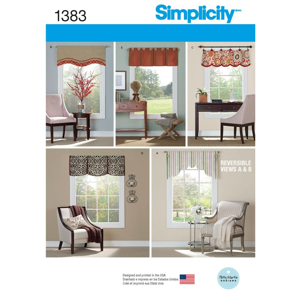S1383 Simplicity sewing pattern OS (ONE SIZE)