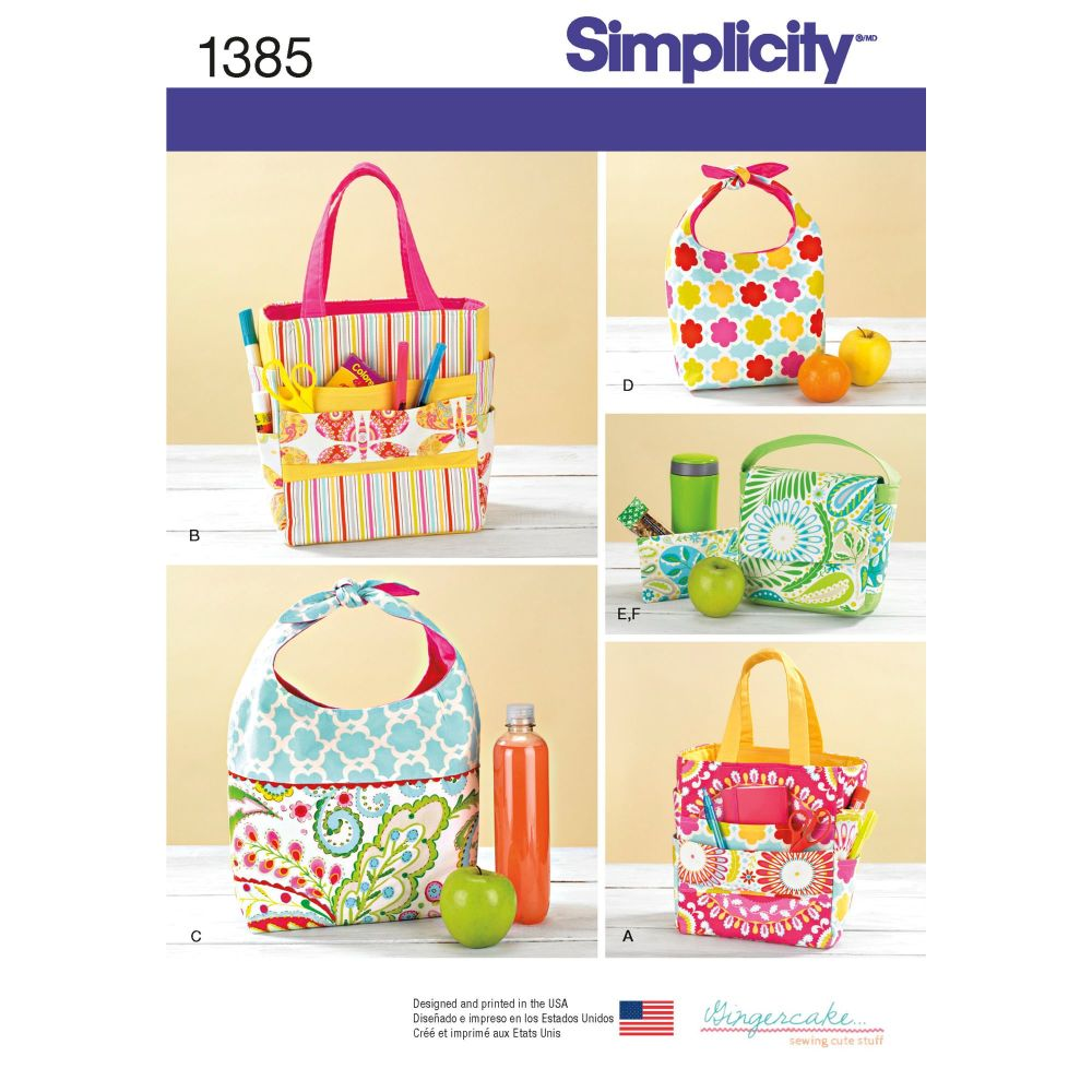 S1385 Simplicity sewing pattern OS (ONE SIZE)