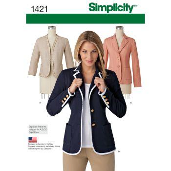 S1421 Simplicity sewing pattern U5 (16-18-20-22-24)