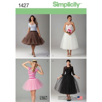 S1427 Simplicity sewing pattern R5 (14-16-18-20-22)