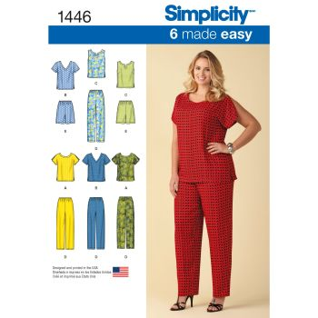 S1446 Simplicity sewing pattern GG (26W-28W-30W-32W)