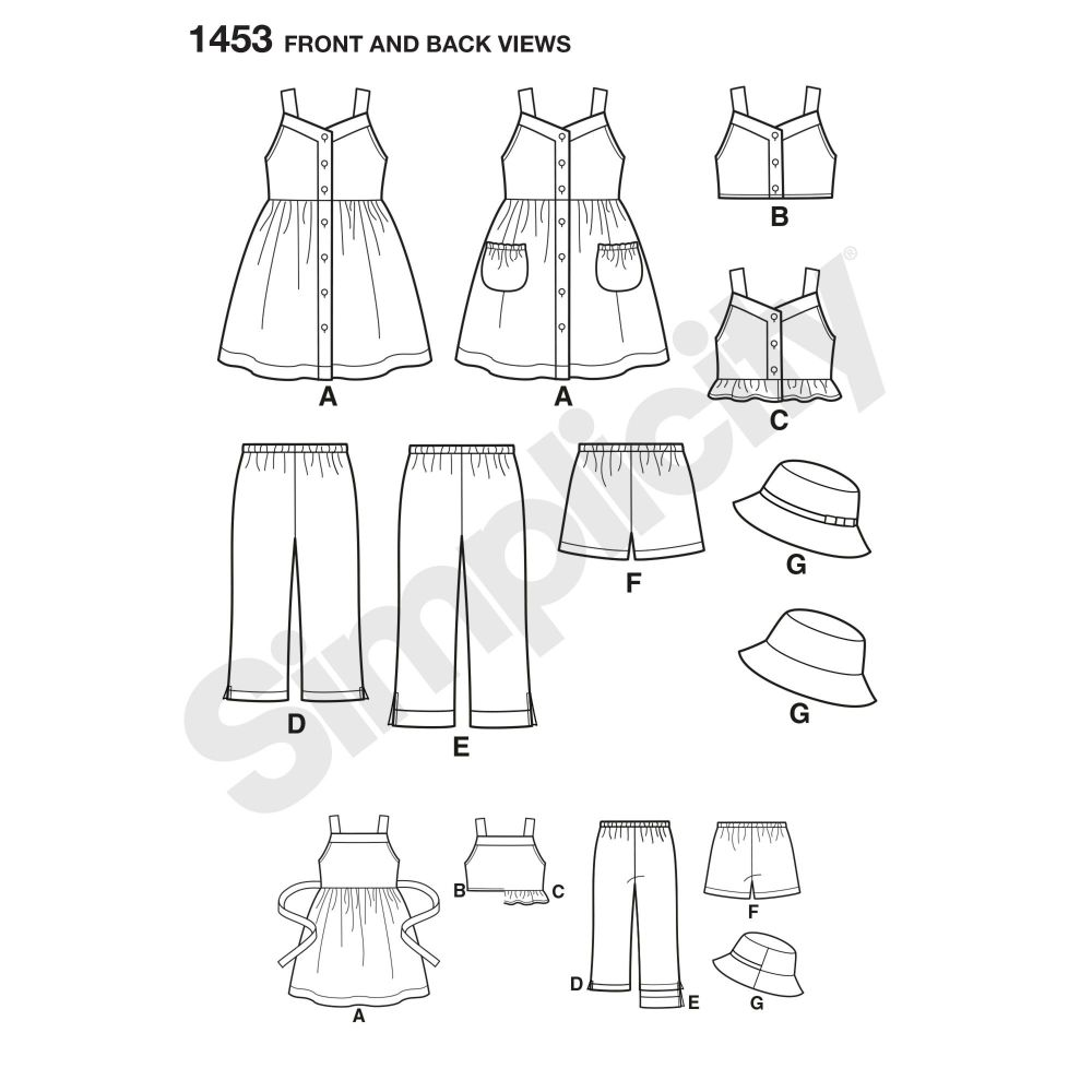 simplicity-girls-pattern-1453-front-back-view