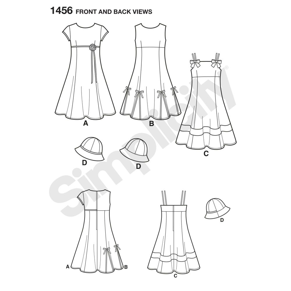 simplicity-girls-pattern-1456-front-back-view