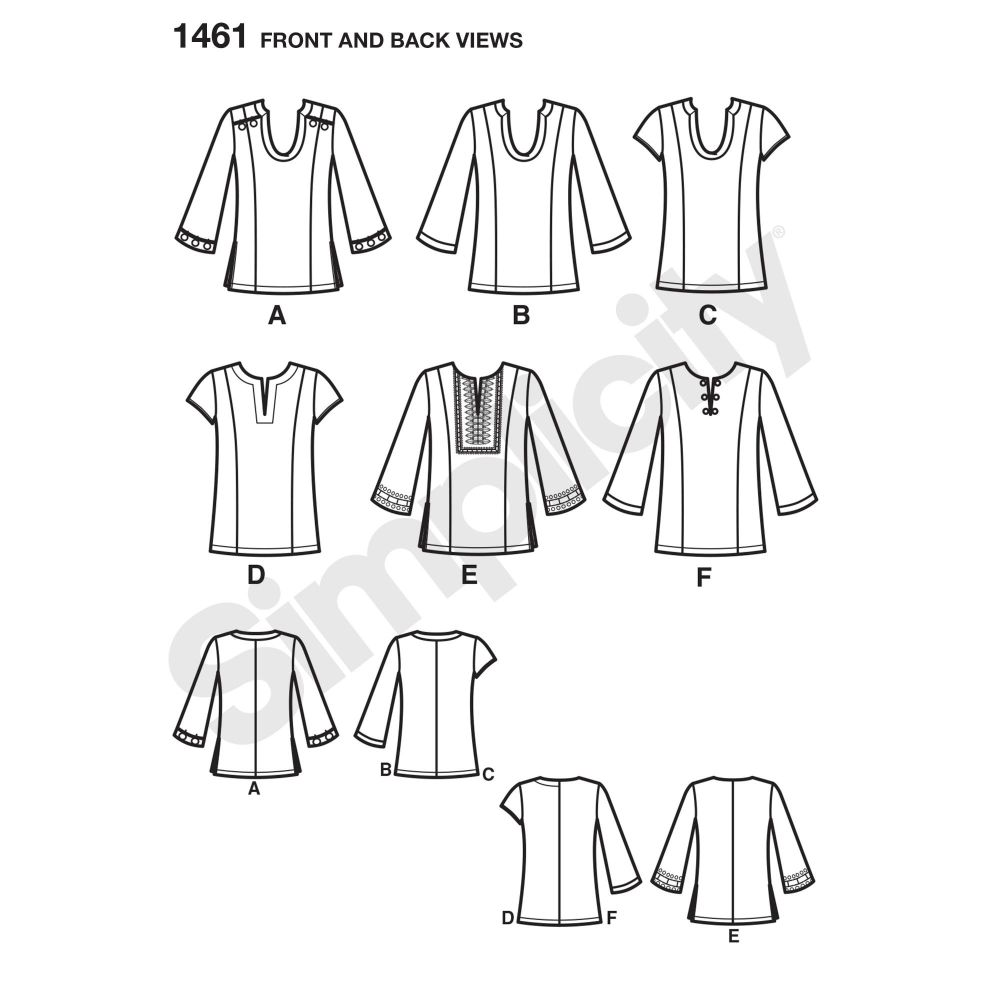 simplicity-tops-vests-pattern-1461-front-back-view