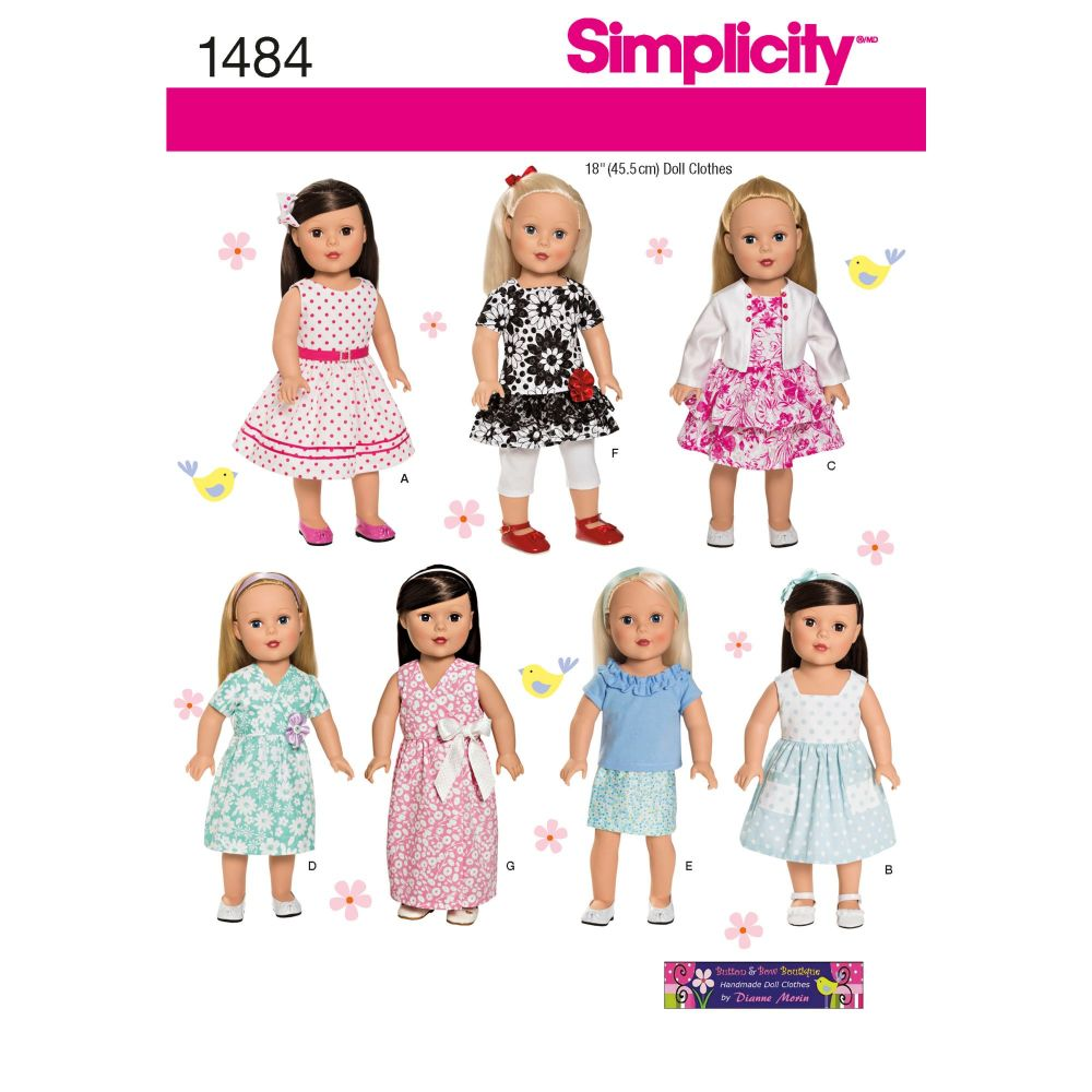 S1484 Simplicity sewing pattern OS (ONE SIZE)