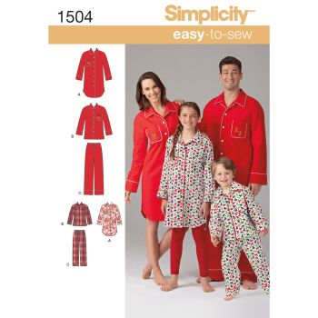 S1504 Simplicity sewing pattern A (XS - L / XS - XL)