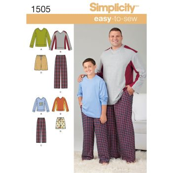 S1505 Simplicity sewing pattern A (S - L / 1XL - 5XL)