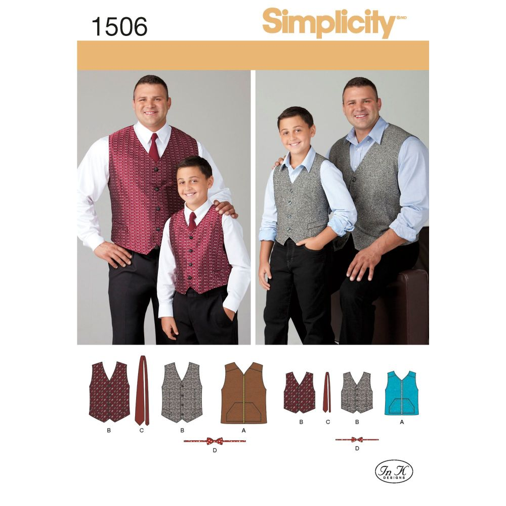 S1506 Simplicity sewing pattern A (S - L / 1XL - 5XL)