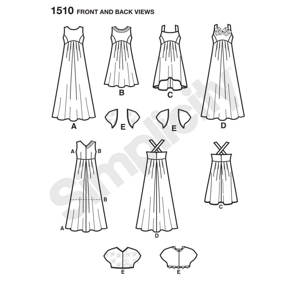 simplicity-girls-pattern-1510-front-back-view