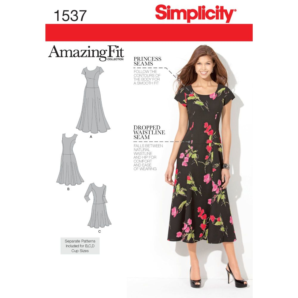 S1537 Simplicity sewing pattern AA (10-12-14-16-18)