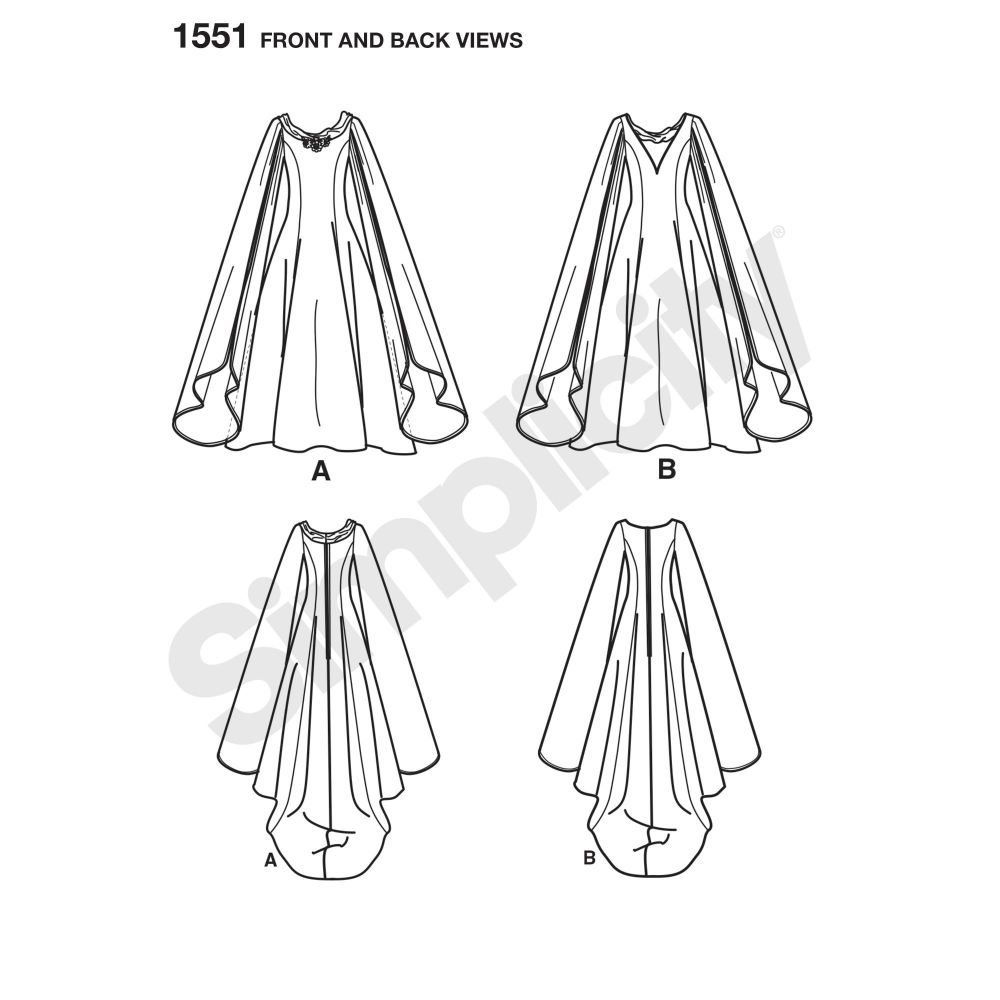 simplicity-costumes-pattern-1551-front-back-view