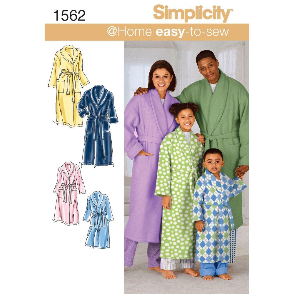 S1562 Simplicity sewing pattern A (XS - L / XS - XL)