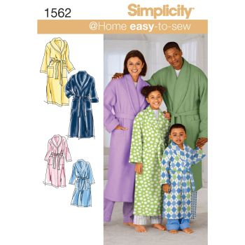 S1562 Simplicity sewing pattern A (XS - L / XS - XL)