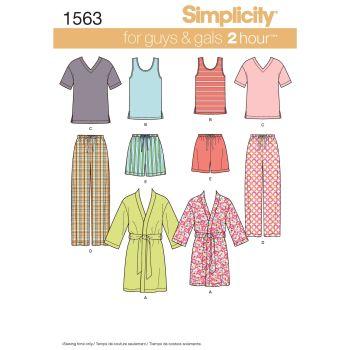 S1563 Simplicity sewing pattern A (XS-S-M-L-XL)