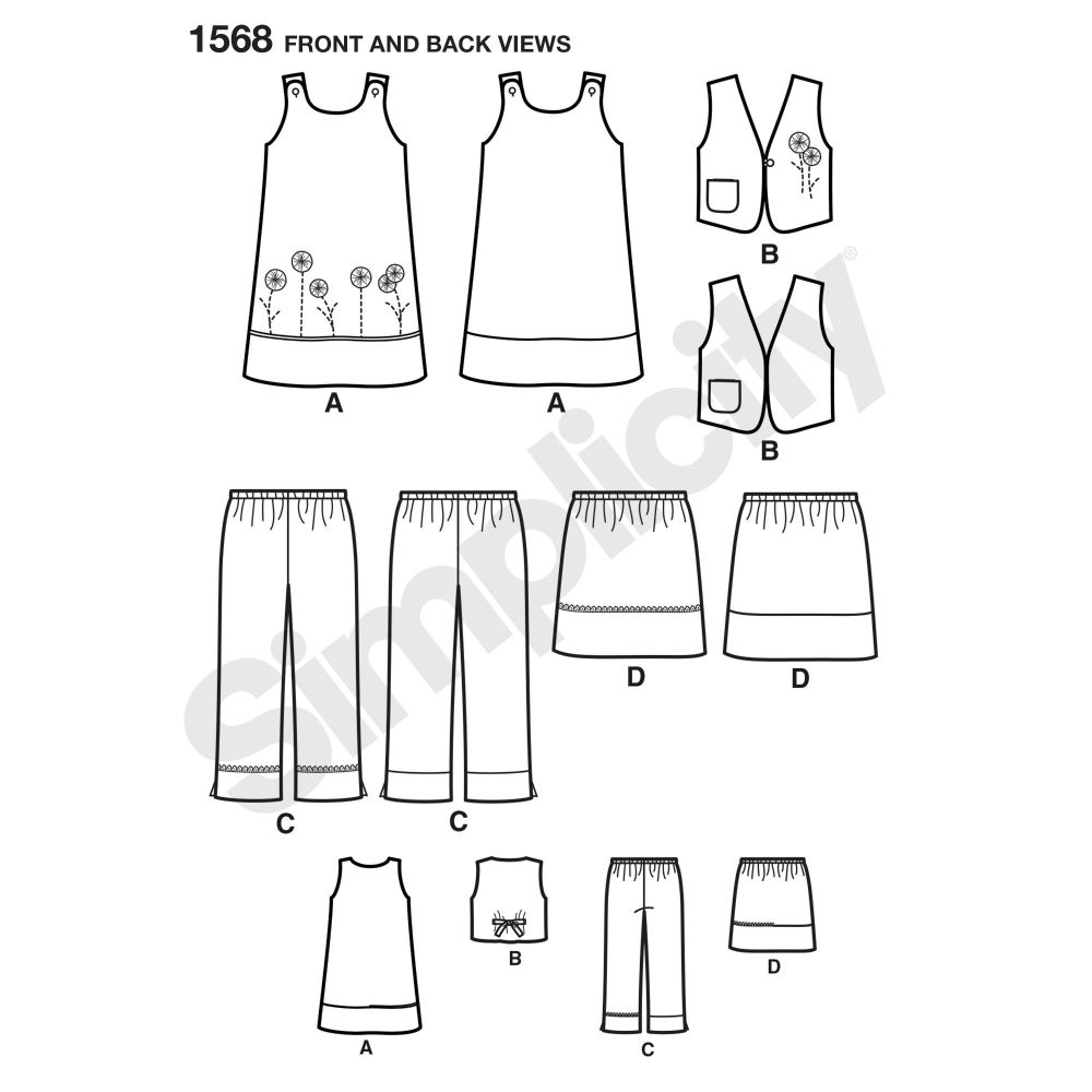 simplicity-girls-pattern-1568-front-back-view